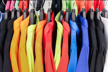 Colorful shirts hanging for your color style