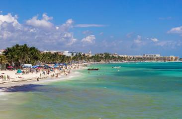 sunny day on Playa del Carmen, Mexico