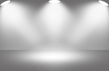 White light spotlight stage background.