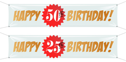 Happy 50th birthday / Happy 25th birthday