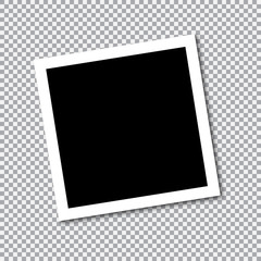 Square frame template with shadows