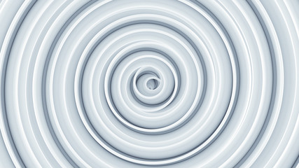 White spiral shape. Abstract 3D render