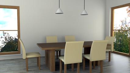 Esstisch mit 6 Stühlen