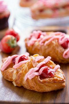 tasty strawberry danish cream for refreshment