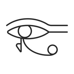 Eye of Ra or Eye of Horus symbol vector icon