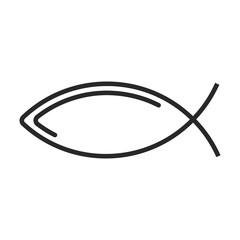 Ichthys symbol vector icon