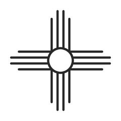 Native American Sun symbol vector icon