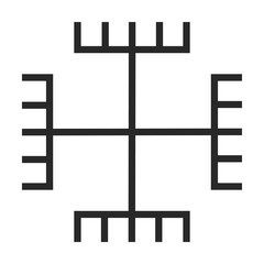 paganism symbol vector icon