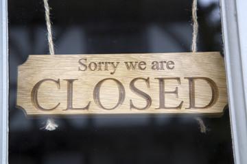 Closed Sign on Shop Door