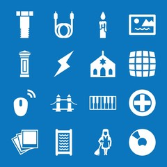 Set of 16 design filled icons