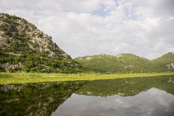 Quiet waters of Lake Skadar in Montenegro