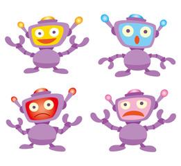 ロボットキャラ、ロボットアイコン、ロボット