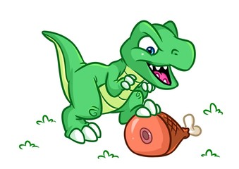 Dinosaur  cartoon Illustrations isolated image animal character