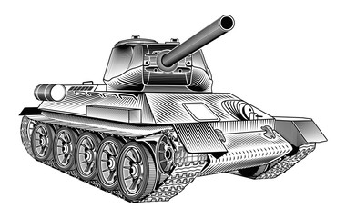 Medium tank T-34 of the World War II. Part 2