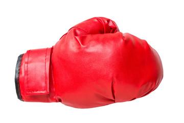 Fototapeta red boxing gloves on white obraz