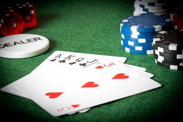 Spielsucht Karten