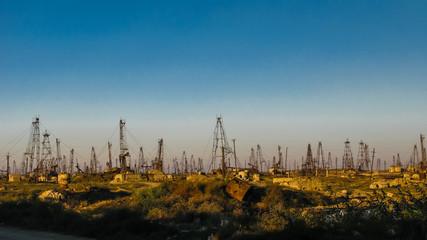Mining on the oil fields near Baku Azerbaijan
