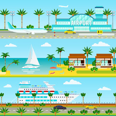 Summer Cruise Vacation Banners