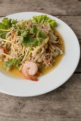 lemon glass salad with shrimp