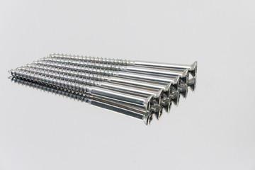 screws on metal background