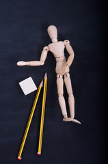 Wooden puppet for learning to draw