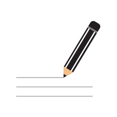 pencil black color isolated vector