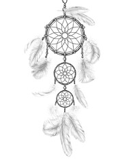 Dream Catcher with Light Feathers