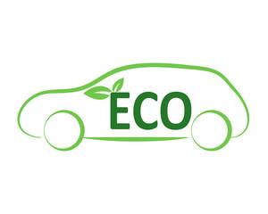 automobile ecologica vettoriale