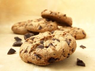 Chocolate chip cookies (sweet food)