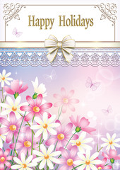 Greeting card with flower