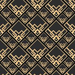 Seamless pattern pixel style. Navajo background. Monochrome textile print.