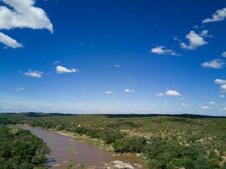 Türaufkleber Elefant Olifant River South Africa