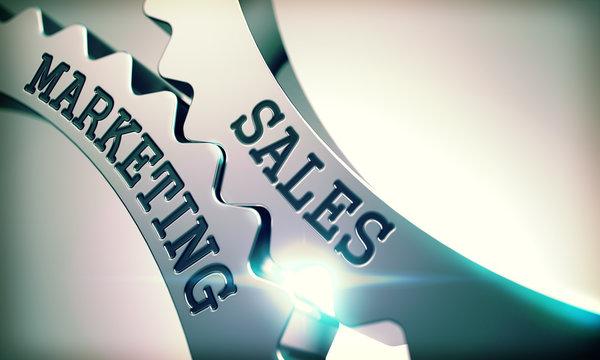 Sales Marketing - Message on the Mechanism of Metallic Gears. 3D
