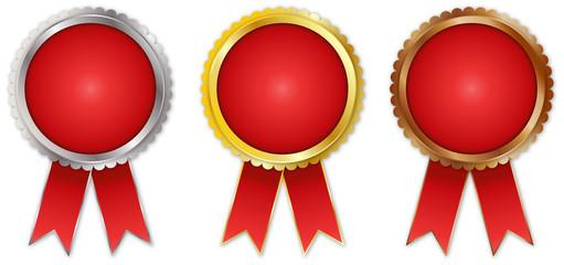 award badges isolated on white background