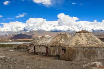 Yurts on Karakul Lake. Kashgar Region, China