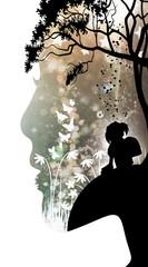 I'm an adult but I'm still a kid inside silhouette art photo manipulation