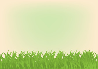 Cartoon rectangular background with green grass.