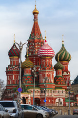 Saint Basil's cathedral in Moscow Kremlin. Russia
