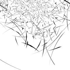 Swirl, twirl geometric element. Abstract spiral pattern.