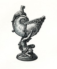 Nautilus cup, made from nautilus shell and silver. Bernhard Quippe, ca. 1700 (from Meyers Lexikon, 1895, 7/736/737)