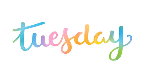 TUESDAY Hand Lettering Icon