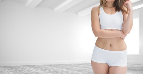 Female Fitness Torso against a white background