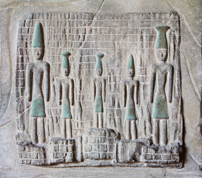 Phoenicians stone sculpture