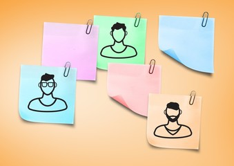 Composite image of Sticky Note People men icons