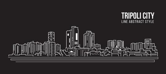 Cityscape Building Line art Vector Illustration design - Tripoli city