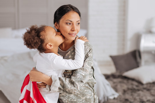 Brave woman delighted spending time with her family