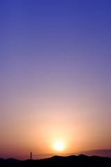 Dawn mountains' silhouette