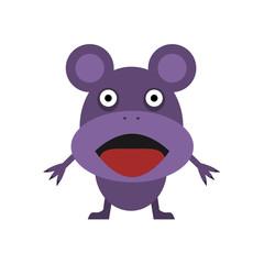 Cute purple mouse