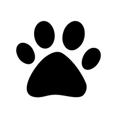 Paw print icon logo, vector