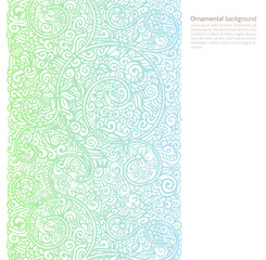 Vector ornate background with copy space